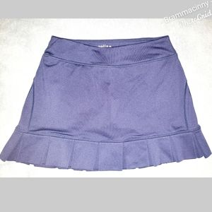 Zella Ruffle Laser Cut Navy Tennis Skirt Skort